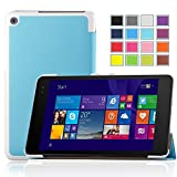 IVSO ASUS Transformer Book T100 Chi Case -Ultra-Lightweight Slim Smart Cover Case-Will only fit ASUS Transformer Book T100 Chi 10.1-inch (2015 Version) Tablet (Blue)
