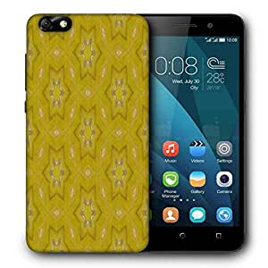 Snoogg Small Stars Yellow Printed Protective Phone Back Case Cover For Huawei Honor 4X