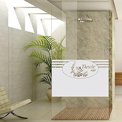 Sichtschutzdekor Duschtür Dusche Milchglasfolie Badezimmer Schmetterling Spruc (80x57cm)