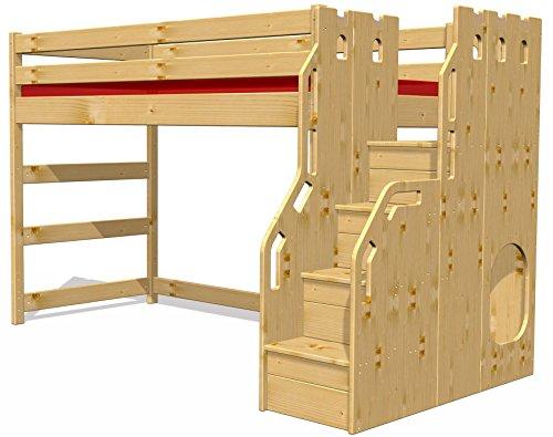 Hochbett-Schlossbett-mit-TreppeRost-GS-zertifziert-Kiefer-Massivholz-aus-nachhaltiger-Forstwirtschaft
