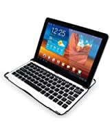 LEICKE Sharon® - Tastiera e Case protettivo ultra sottile per Samsung Galaxy Tab 10.1 10.1N P7500 P7510 Samsung Galaxy Tab 2 10.1 - Tastiera Bluetooth integrata QWERTY con funzione di protezione, supporto e presentazione - LEGGERE DESCRIZIONE