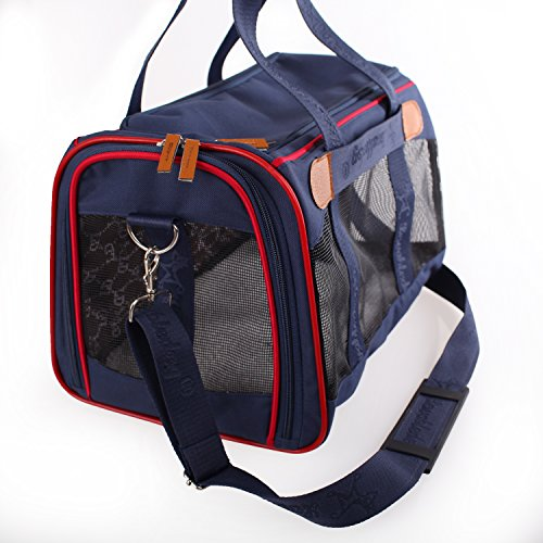 Soft Sided Travel Pet Carrier for Dog or Cat. Airline Approved For In Cabin Under Seat Storage, Travel Tote Bag
