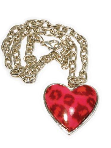 Switchblade Stiletto LEOPARD HEART NECKLACE