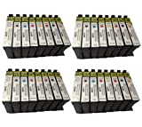4 X T0870 - T0879 Series Compatible Multipack - Full Set of 32 Cartridges for Epson R1900 Printer (Replaces :T0870/Gloss OptimizerBlack T0871/Black T0872/Cyan T0873/Magenta T0874/Yellow T0877/Red T0878/Matt Black T0879/Orange) 16ML ***By TriINKS***