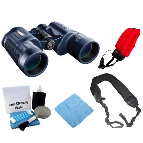 Bushnell 134212C H20 Waterproof 12X42 Binoculars Black + Focus Foam Float Strap Red + Accessory Kit