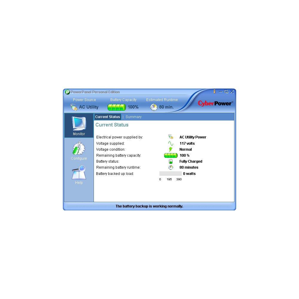 CyberPower CP1000AVRLCD Intelligent LCD Series UPS 1000VA 600W AVR Mini-Tower