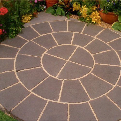 Quality Paving Circle & Sq Off Kit 1.8m² In An Eyecatching Twilight Rotunda Design For Garden/ Patio