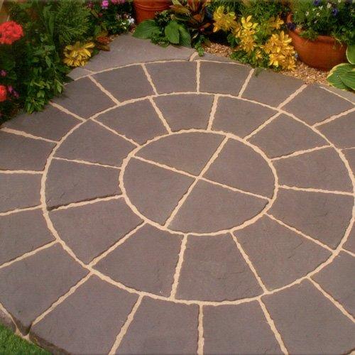 Quality Paving Circle & Sq Off Kit 1.8m² In An Eyecatching Twilight Rotunda Design For Garden/ Patio