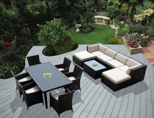 patio sets clearance genuine ohana outdoor sectional sofa and dining wicker patio furniture set. Black Bedroom Furniture Sets. Home Design Ideas