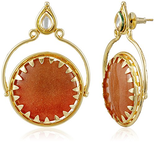 Sia Sia Art Jewellery Hoop Earrings For Women (Golden) (AZ1876) (Yellow)