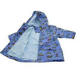 Pluie Pluie Boys Outerwear Blue Truck Lined Raincoat 12M/2T