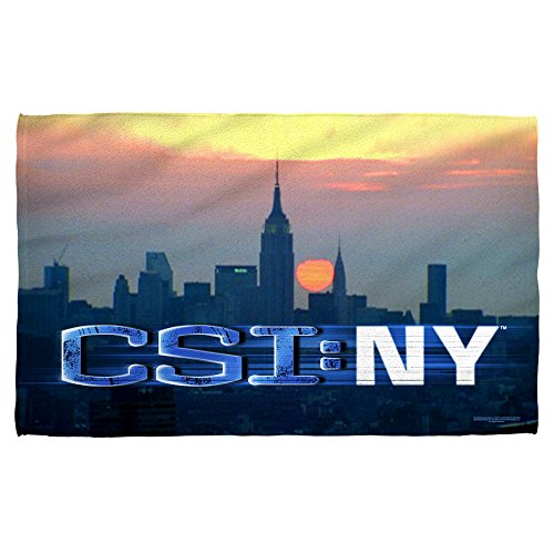 CSI:New York TV Series City Skyline Logo & Investigators Beach Towel