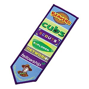Official Scout Woven Bookmark / Blanket Badge For All Sections