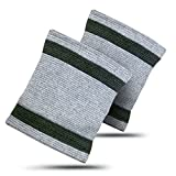 Carpal Tunnel Wrist Compression Sleeve By LightStep (Pair) Bamboo Charcoal Wrist Wrap, One Size Fits All Wrist Support. Wrist Brace Provides Carpal Tunnel Syndrome Relief, Wrist Band For Arthritis Pain Relief, Tendonitis Relief For Wrist Pain