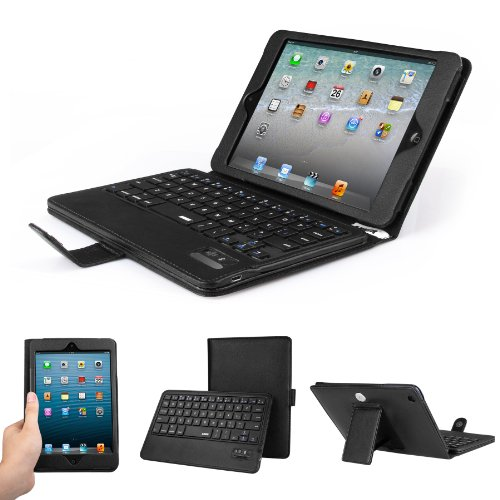 Anker iPad mini Bluetooth Keyboard Case Cover with Removable Detachable Wireless Keyboard
