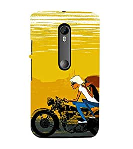 99Sublimation Lovers Drive 3D Hard Polycarbonate Back Case Cover for Motorola Moto G3 :: G 3rd Gen :: G Dual SIM 3rd Gen