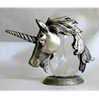 Crystal and Pewter Unicorn Head