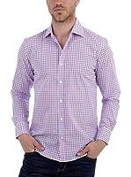 BLUE COAST YACHTING Camisa Hombre (Azul / Rosa)