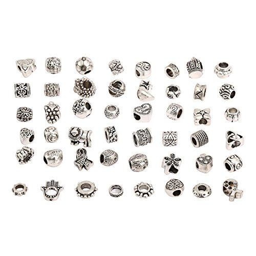 rkc-charms-50-pcs-antique-silver-plated-nickel-lead-free-oxidized-metal-beads-charms-set-mix-lot-com
