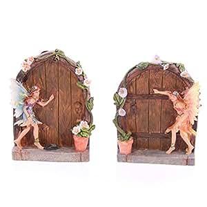 Flower fairy with secret door kitchen home for Secret fairy doors by blingderella