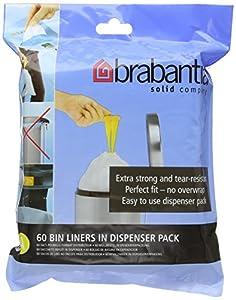 Brabantia Bin Liners, Size A, 3 Litre - 60 Bags