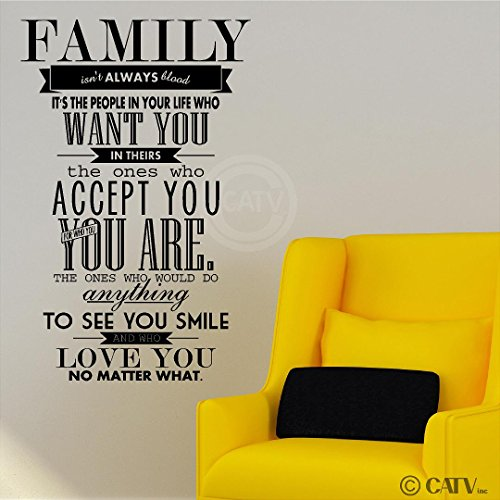 Family Isn t Always Blood M Wall Saying Vinyl Lettering Home Decor ...