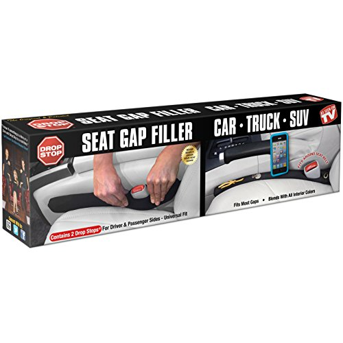 Drop Stop - The Original Patented Car Seat Gap Filler - Set of 2 (AS SEEN ON SHARK TANK) (Seat Filler compare prices)