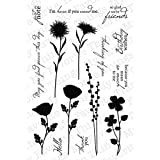 My Favorite Things Lisa Johnson Designs Stamps Sheet, 4 by 6-Inch, Peaceful Wildflowers