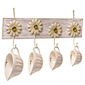 Oh Gussie Daisies Wall Hooks with Measuring Cups
