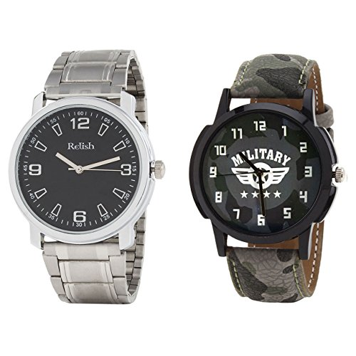 Relish Analog Round Casual Wear Watches For Men Combo - B01ANCDST4