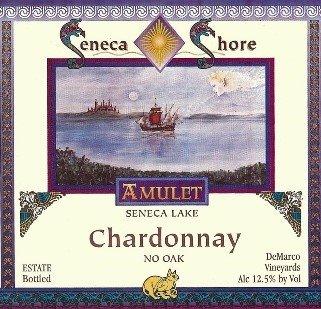Nv Seneca Shore Wine Cellars Chardonnay - No Oak , Seneca Lake Table Wine, 750 Ml