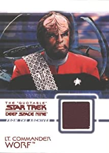 Quotable Star Trek Deep Space Nine C5 Worf Costume Card Red Variant