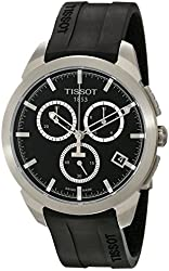 Tissot Men's T0694174705100 Quartz Titanium Black Dial Chronograph Watch