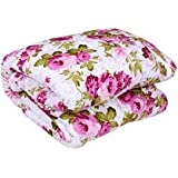 Factorywala Floral Print Super Soft And Warm Micro Fiber Single Bed Reversible Dohar/AC Comfort/Blanket/Quilt...