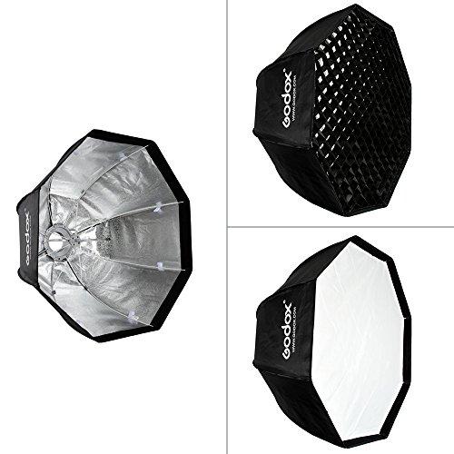 Godox SB-UE 80cm / 31.5in Ombrello Softbox Portatile Pieghevole Octagon a Nido D'ape Grigliacon Bowens Mount per Speedlite