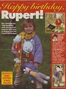 Childrens Rupert Bear Motif Sweater and Toy Rupert Bear & Toy Bill B...
