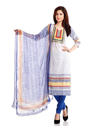 Pinkshink Lawn Cotton Blue Salwar Suit Dress Material
