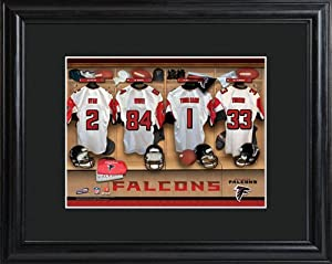 Personalized NFL Locker Room Print with Matted Frame - Atlanta Falcons Locker Room... by Personalized Gifts