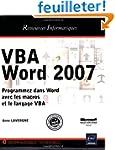 VBA Word 2007 - Programmez dans Word...