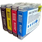 4 CiberDirect Compatible Ink Cartridges for use with Brother DCP-130C Printers.