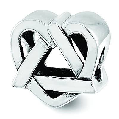 Sterling Silver Adoption Symbol Bead Charm For Pandora, Biagi, Chamilia & European Bracelets