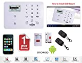 D3D Model D9 With 1 Door + 1 PIR Sensor + 2 Remote Touch Screen Smart phone iOS/ Android Mobile apps Wireless Sensor Security System