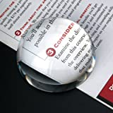 "PAPERWEIGHT MAGNIFIER - Dome Magnifier/Paperweight, 3.25""OPTICAL CRYSTAL"