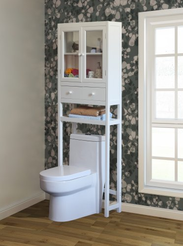 Cheapest Price! Space Saver Over the Toilet Cabinet - White
