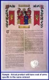 Furrer Armorial History with Coat of Arms on 11 x 17 Parchment
