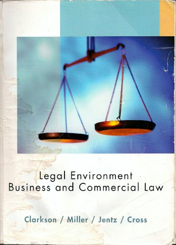 Legal Environment Business & Commercial Law