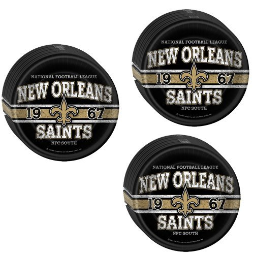 NFL New Orleans Saints Party Lunch/Dinner Plates - 24 Guests