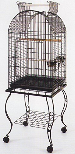 20-Inch Open and Close Dome Plays Top Parrot Lovebird Cockatiel Cockatiels Parakeets Cage With Removable Stand