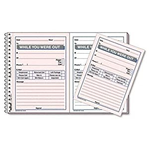 Rediform Desksaver While You Were Out, 5.5 x 4 Inches, 2 Per Page, 100 Messages (50226)
