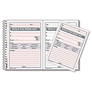 """REDIFORM Desksaver While You Were Out, 5.5 x 4"""" 2 per Page, 100 Messages (50226)"""
